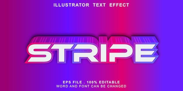 Faixa de logotipo editável de efeito de texto de faixa Vetor Premium