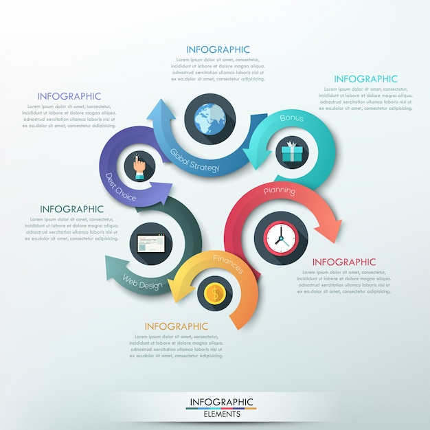 Faixa de opções de infografia moderna para 4 opções Vetor Premium
