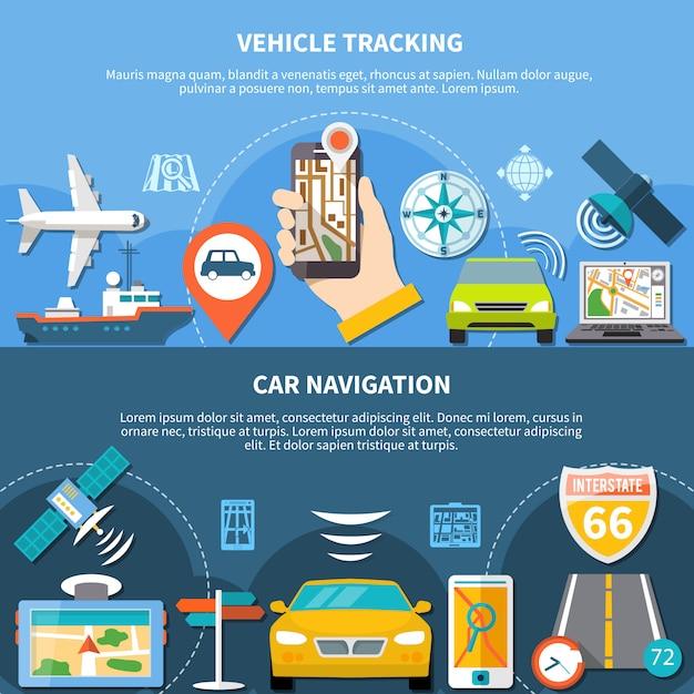 Faixas horizontais de rastreamento de transporte Vetor grátis