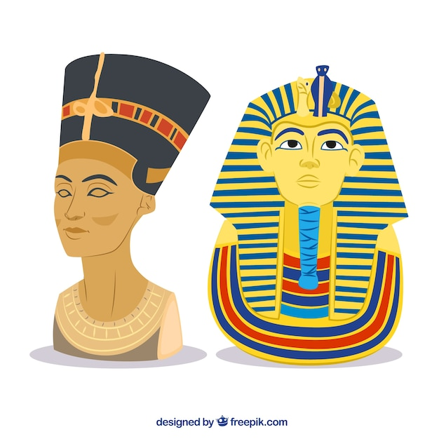 Faraós egípcios Vetor grátis