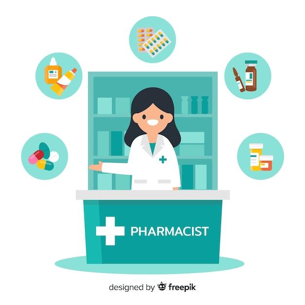 Farmacêutico Vetor Premium