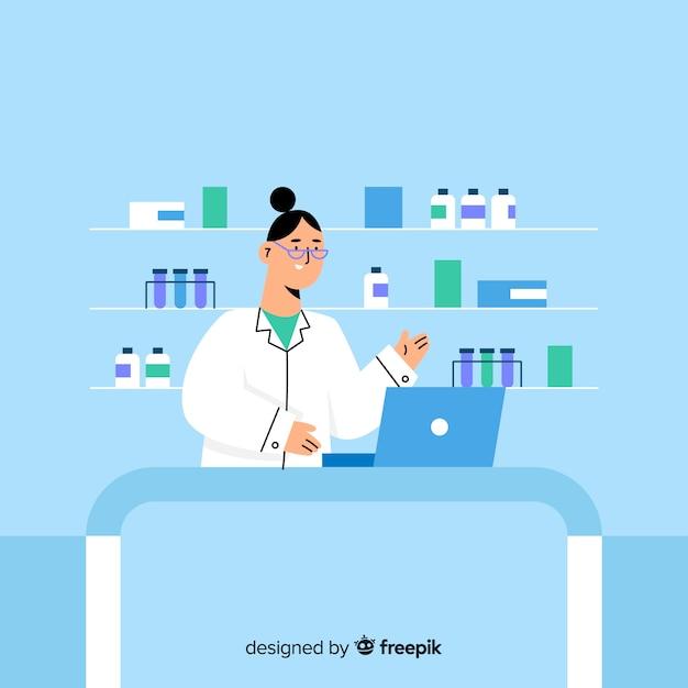 Farmacêutico Vetor grátis
