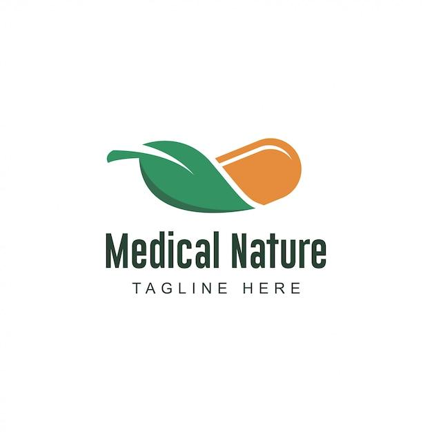 Farmácia médica logo Vetor Premium