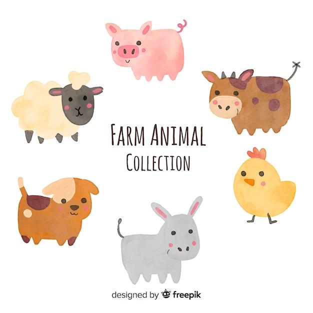 Farmio colecionar animais Vetor grátis