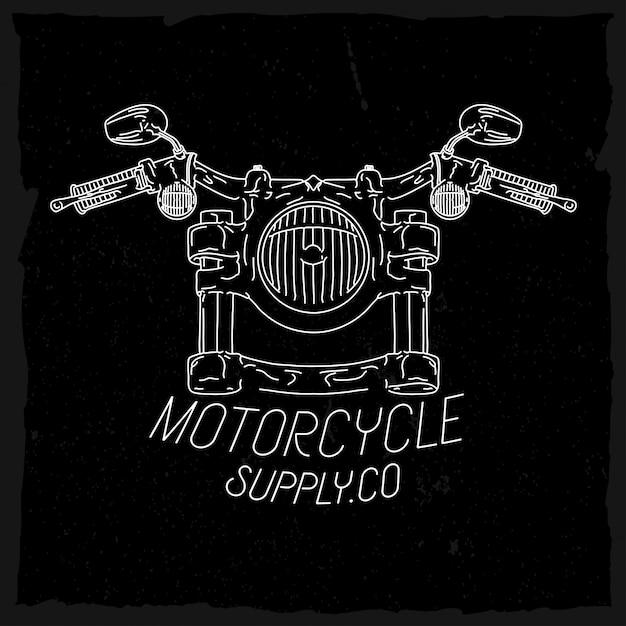 Farol de motocicleta em estoque de estilo de linha Vetor Premium