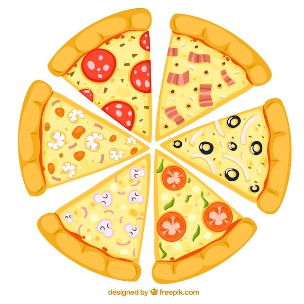 Fatias de pizza Vetor grátis