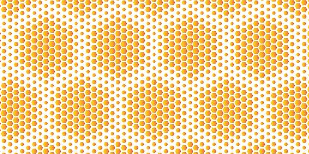 Favo de mel hexagonal de tamanho aleatório Vetor grátis