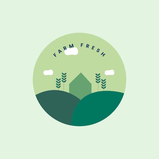Fazenda ícone fresco e orgânico Vetor grátis