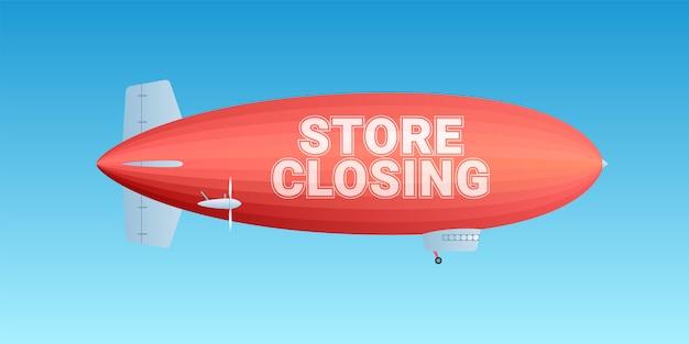 Fechamento de loja Vetor Premium
