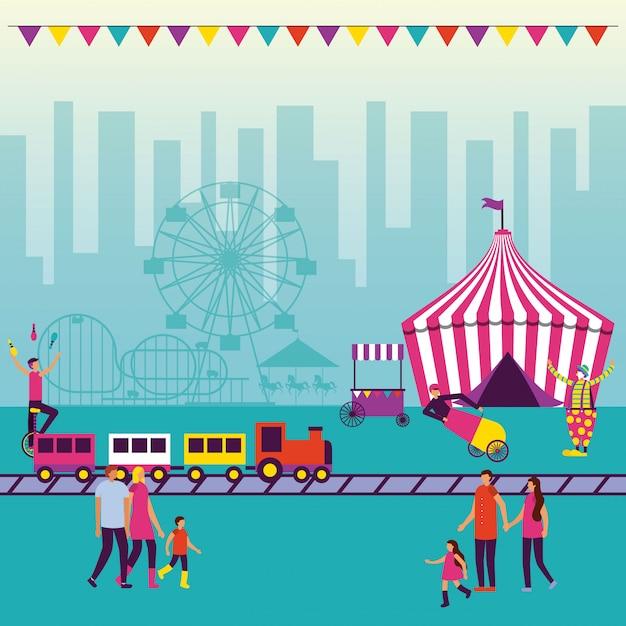 Feira de diversões de circo Vetor grátis