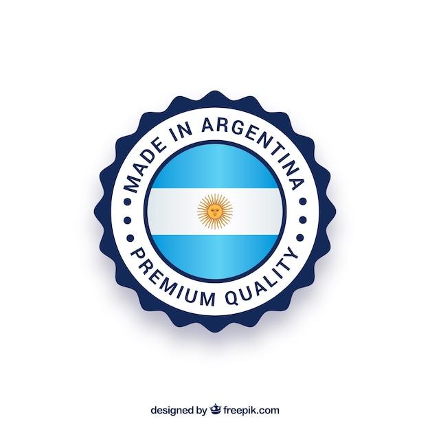 Feito no rótulo argentina Vetor grátis