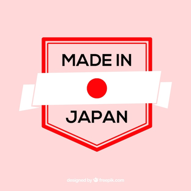 Feito no rótulo do japão Vetor grátis