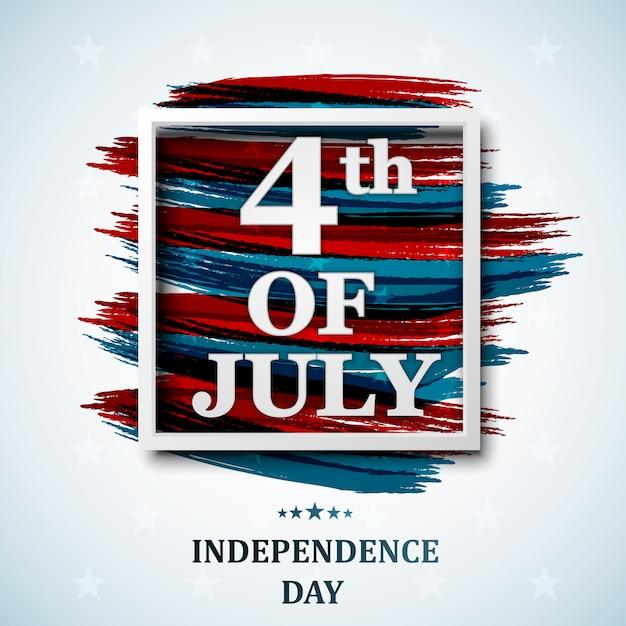 Feliz 4 de julho, eua dia da independência. quatro de julho Vetor Premium