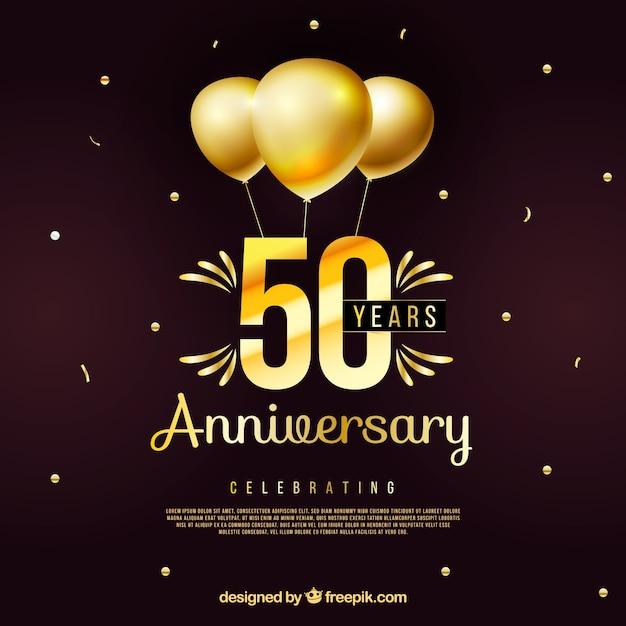 Feliz aniversário com números em estilo dourado Vetor grátis