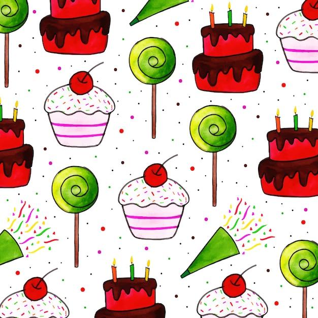 Feliz aniversário de fundo Vetor Premium