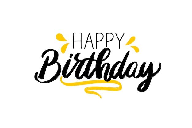 Feliz aniversário lettering Vetor grátis