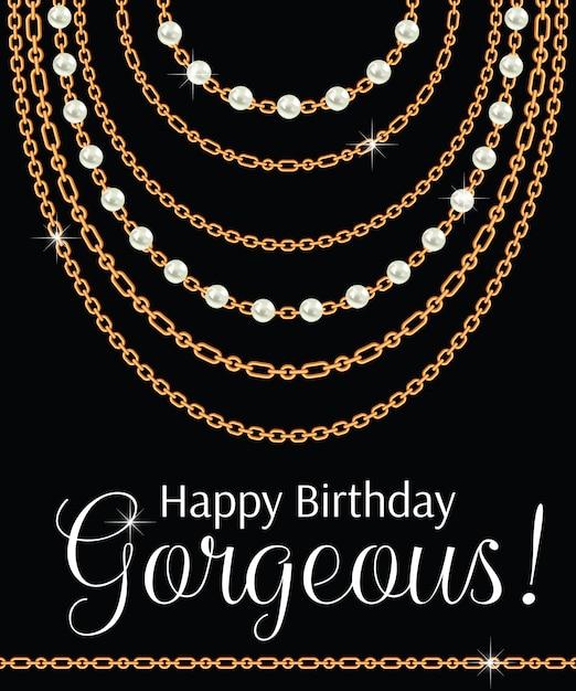 Feliz aniversário linda. Vetor Premium