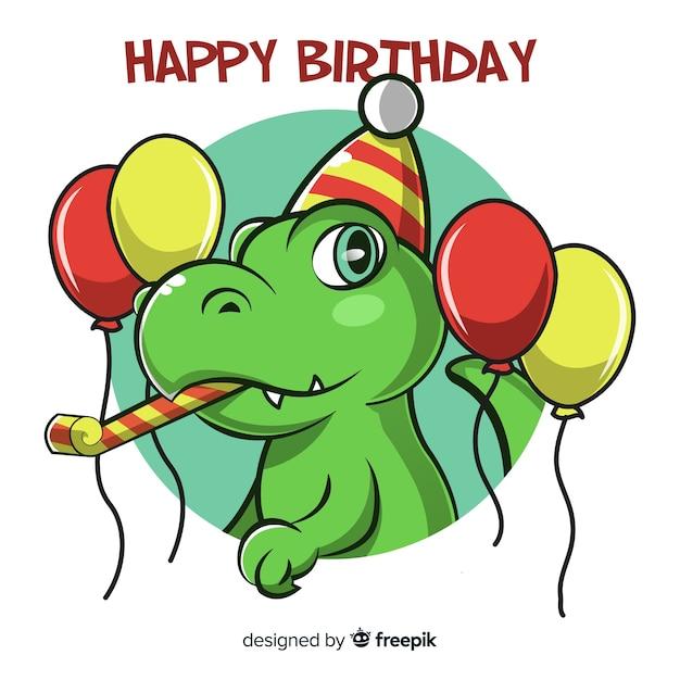 Feliz aniversário Vetor grátis