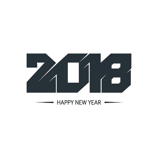 Feliz ano novo 2018 design colorido Vetor Premium