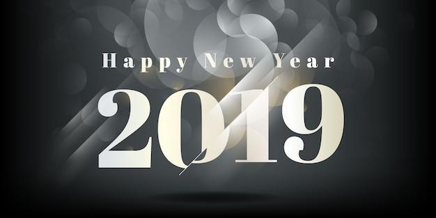 Feliz ano novo 2019 background Vetor Premium