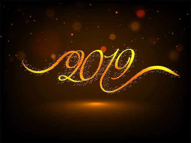 Feliz ano novo 2019 de fundo. Vetor Premium