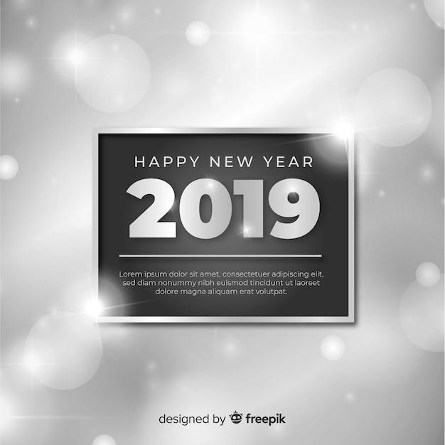 Feliz ano novo 2019 fundo Vetor grátis