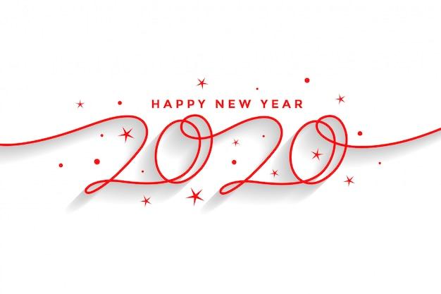 Feliz ano novo 2020 cartão Vetor grátis