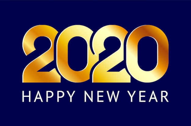 Feliz ano novo cartão. ano chinês 2020 de rato Vetor Premium