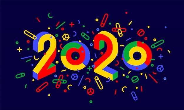 Feliz ano novo. cartão de feliz ano novo Vetor Premium
