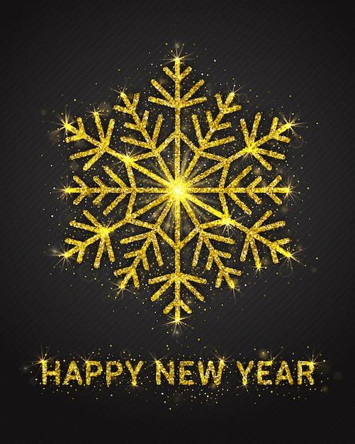 Feliz ano novo cartão design Vetor Premium