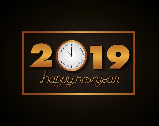 Feliz ano novo celebração Vetor Premium