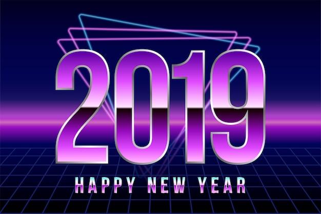 Feliz ano novo de 2019. Vetor Premium