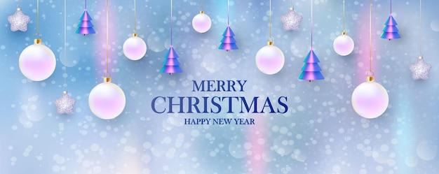 Feliz ano novo. fundo de natal Vetor Premium