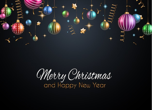 Feliz ano novo fundo Vetor Premium