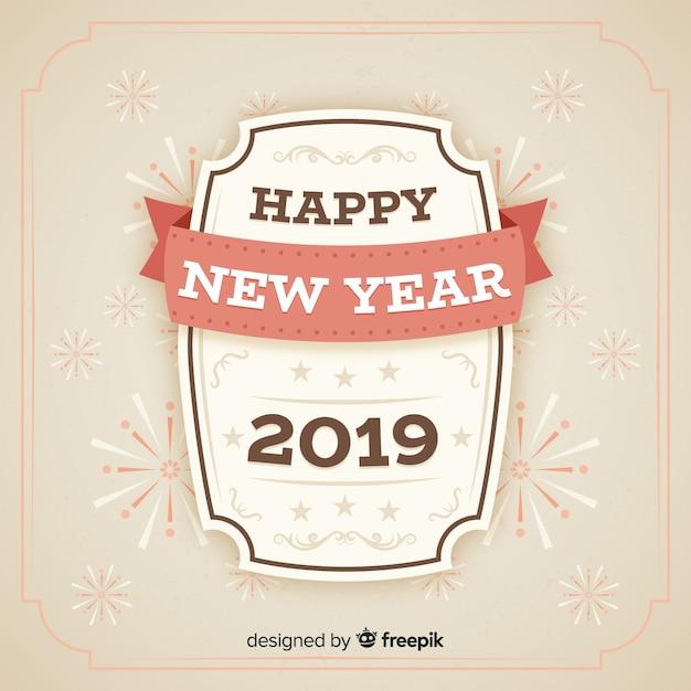 Feliz ano novo fundo Vetor grátis