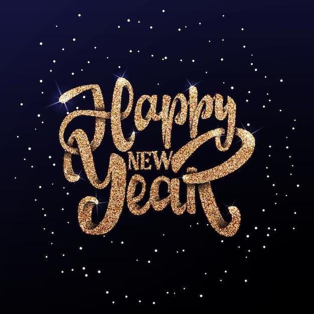 Feliz ano novo no fundo luz bokhe. Vetor Premium
