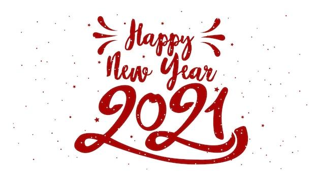 Feliz ano novo tipográfico. ilustração retro com composição de letras e estouro. etiqueta festiva vintage de férias Vetor Premium
