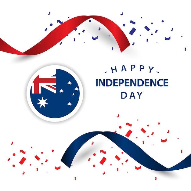 Feliz, austrália, dia independência, vetorial, desenho, ilustração Vetor Premium