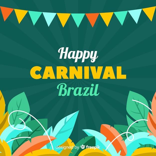 Feliz carnaval brasileiro Vetor grátis