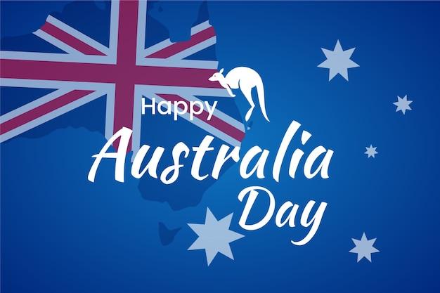 Feliz dia canguru austrália Vetor grátis