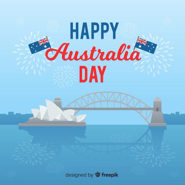 Feliz dia da austrália Vetor grátis