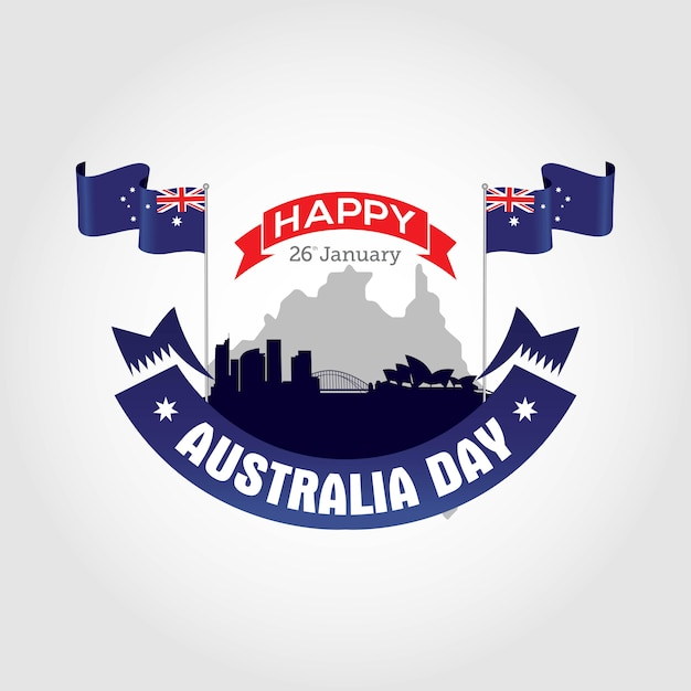 Feliz dia da austrália Vetor Premium