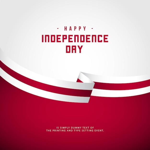 Feliz dia da independência da inglaterra Vetor Premium