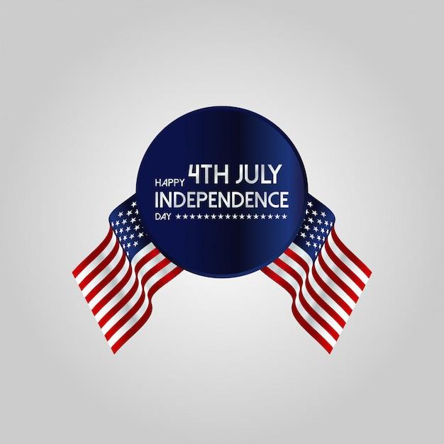 Feliz dia da independência Vetor grátis