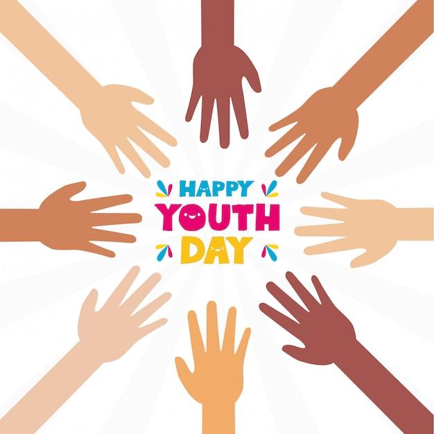 Feliz dia da juventude Vetor grátis