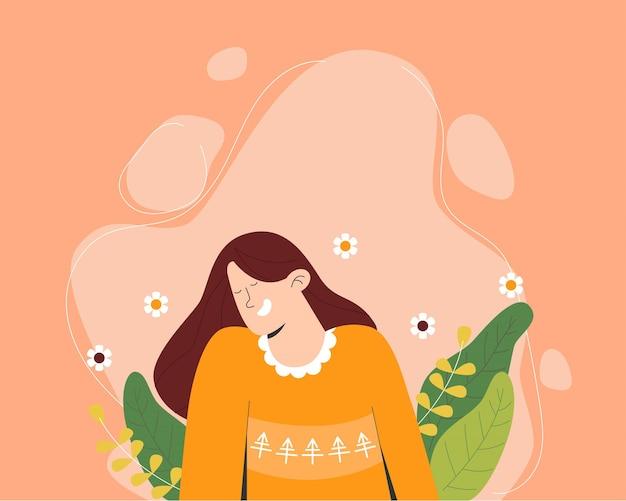 Feliz dia da mulher floral Vetor Premium