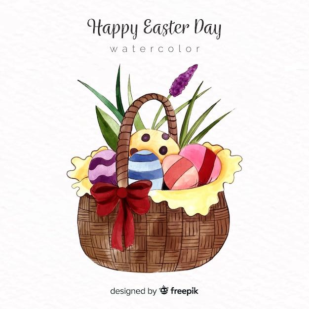 Feliz dia da páscoa fundo Vetor grátis