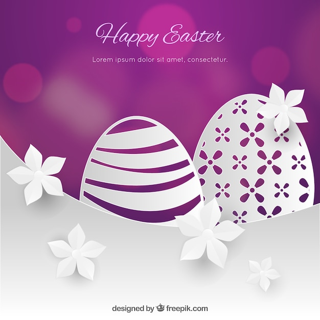 Feliz dia da páscoa no estilo de papel Vetor grátis
