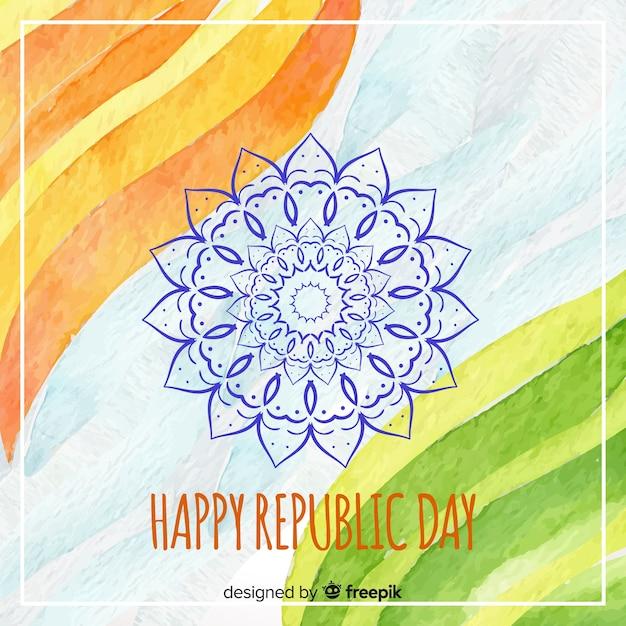 Feliz dia da república indiana Vetor grátis
