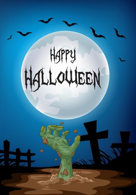 Feliz dia das bruxas distribuir da sepultura Vetor Premium